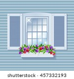 beautiful clean shine window... | Shutterstock .eps vector #457332193