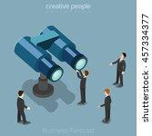flat isometric businessman... | Shutterstock .eps vector #457334377