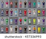 spanish football team kit...   Shutterstock .eps vector #457336993