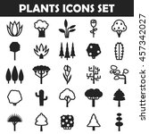 big plants icon set | Shutterstock .eps vector #457342027