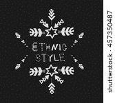uncommon ethnic vector hand... | Shutterstock .eps vector #457350487