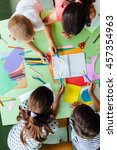 creative workshop at school.... | Shutterstock . vector #457354963