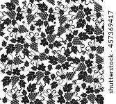 grape black white seamless... | Shutterstock .eps vector #457369417