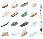 vehicles motor boat icons se.... | Shutterstock .eps vector #457373683