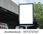 blank poster mockup template... | Shutterstock . vector #457373767