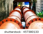 old sewer and waste water from... | Shutterstock . vector #457380133