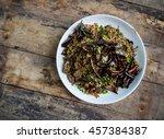 spicy duck salad with... | Shutterstock . vector #457384387