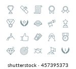 winning awards vector icons set | Shutterstock .eps vector #457395373