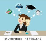 happy smiling business woman... | Shutterstock .eps vector #457401643