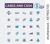 cards and cash icons | Shutterstock .eps vector #457401733