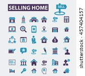 selling home icons | Shutterstock .eps vector #457404157