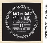 save the date  wedding... | Shutterstock .eps vector #457407853