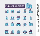 buildings icons | Shutterstock .eps vector #457408063