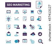 seo marketing icons | Shutterstock .eps vector #457413127