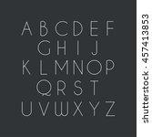 thin font. vector illustration... | Shutterstock .eps vector #457413853