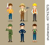 man  people with different... | Shutterstock .eps vector #457417873