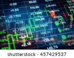 stock market  finance  economy  ... | Shutterstock . vector #457429537