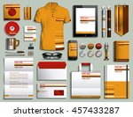 vector illustration of a set of ... | Shutterstock .eps vector #457433287