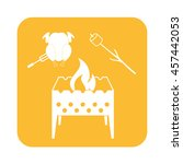 brazier  zephyr and chicken... | Shutterstock .eps vector #457442053