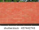 Roof Tile Over Blue Sky. Roof...
