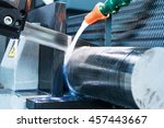 automatic bandsaw sawing metal... | Shutterstock . vector #457443667
