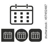 planning calendar   black and... | Shutterstock .eps vector #457452487