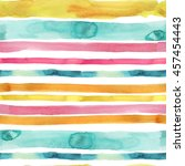 watercolor colorful stripes... | Shutterstock . vector #457454443