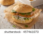the cemita poblana is a typical ... | Shutterstock . vector #457461073