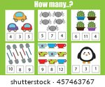 counting educational children... | Shutterstock .eps vector #457463767