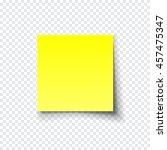 transparent realistic paper... | Shutterstock .eps vector #457475347
