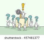 sketch crowd of little people... | Shutterstock .eps vector #457481377