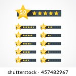set of stars rating design... | Shutterstock .eps vector #457482967