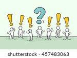 sketch   crowd of working... | Shutterstock .eps vector #457483063