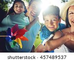 family bonding happiness... | Shutterstock . vector #457489537