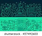 illustration of modern line... | Shutterstock . vector #457492603