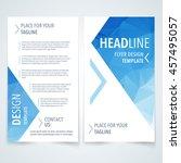 vector design template of flyer ... | Shutterstock .eps vector #457495057