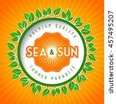 summer logo design elements for ... | Shutterstock .eps vector #457495207