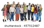 diverse group people standing... | Shutterstock . vector #457512487