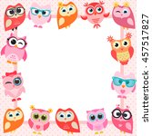 Frame With Funny Owls