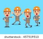 cartoon technician character... | Shutterstock .eps vector #457519513