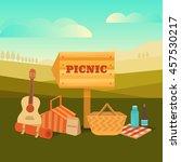 vector illustration of a picnic ...   Shutterstock .eps vector #457530217