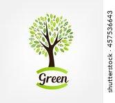 tree logo design template | Shutterstock .eps vector #457536643