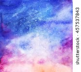 watercolor colorful starry... | Shutterstock . vector #457537843