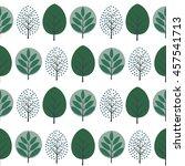 green decorative trees ... | Shutterstock .eps vector #457541713