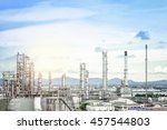 oil and gas refinery plant... | Shutterstock . vector #457544803
