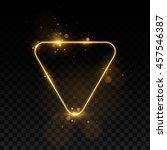 vector golden frame with lights ... | Shutterstock .eps vector #457546387