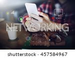 connection digital devices... | Shutterstock . vector #457584967