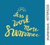 summer card poster  emblem ... | Shutterstock . vector #457595233