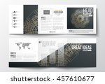set of tri fold brochures ... | Shutterstock .eps vector #457610677