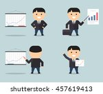 people business project... | Shutterstock .eps vector #457619413